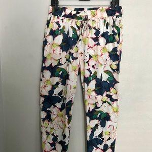 J Crew Floral lightweight pants